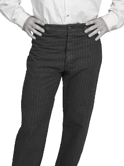 Mens Railhead Charcoal Stripe Scully Wahmaker pants USA MADE, mens scully pants, scully wahmaker pants, scully wahmaker clothing, scully wah-maker, wah-maker pants, western pants, scully pants