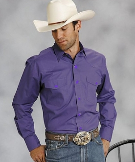 This Mens Pearl snap purple western shirt is a great all around western pearl snap shirt for men with a cowboy look and western point yokes which makes this a perfect mens western wedding shirt.