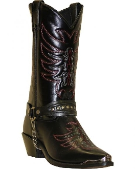 1d44b702da1 USA MADE Men s Scorpion Black Boot Chain Cowboy Boots