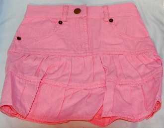 Girls 3/4 Length Pink Denim Western Skirt, Girls denim western skirt