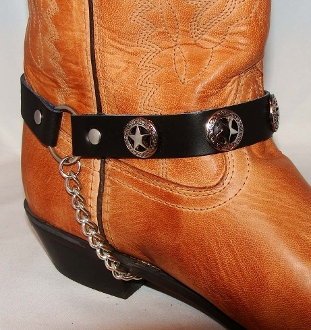 PAIR- Western Star Cowboy Boot Chains