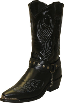 Usa Made Men S Black Harness Sage Cowboy Boots