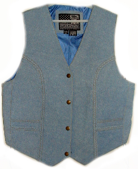 Denim Leather Womens western vest