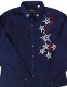 This Womens Star Embroidered Rhinestone Blue Western Shirt is a show stopper. The Rhinestone accents on every embroidered star really show up on this beautiful womens western shirt.
