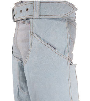 Blue jean real cowhide leather chaps, leather chaps, western chaps, western chaps for men, western chaps for women, western chap