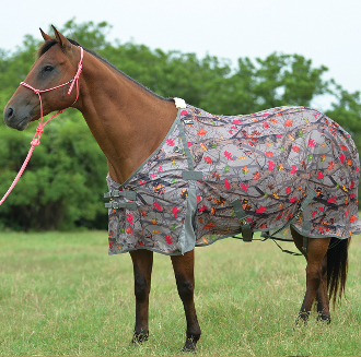 This Cashel Hot Leaf Pink Camo UV Rated Horse Fly Sheet blocks 70% of the sun's rays protecting your horse with a unique design that stays put while your horse is stalled or turned out in the pasture.
