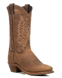 Womens Brown Two-Tone Square Toe Cowboy Boots USA made usa cowboy boots for womenm usa cowboy boots, cowboy boots, cowboy boots for women, womens cowboy boots, cowgirl boots, womens western boots,