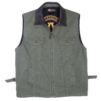 """Kelly"" Kakadu red Canvas Concealed Carry Western Vest, gun carry vest, concealed Carry Western Vest, canvas western vest, mens western vest, western vest for men"