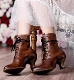 The Elizabeth Tan Leather Womens Granny Boots make a beautiful statement in a victorian way. The old west boots for women are made of top quality leather by custom cobblers and are perfect for western wedding