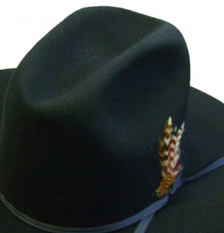 Adult Dyna Felt Cattleman Garth Black Cowboy Hat