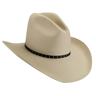 "This ""Elbridge"" Silverbelly 3x Wool Gus Old West Cowboy Hat was made for you in the USA. Take pride in your American Made Matters western hat by Bailey Hats. Look just like a character in a western movie with this cowboy hat."