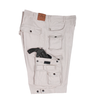 Kakadu Bone Canvas Concealed Carry Holster Cargo Shorts