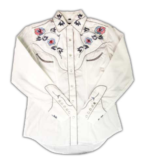 Ladies Flower Embroidered White Western Shirt , western shirt with snaps, western shirt vintage, vintage western shirts, western vintage clothing, scully western shirt, ladies scully, ladies scully shirts