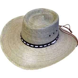 This Adult Palma Verde GUS Crown Straw Cowboy Hat is a throwback to the old west with the high back crown in the gus style.
