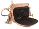 The Swan Studded Tassel Concealed Carry pink leather Western Purse is perfect for any womens concealed gun needs