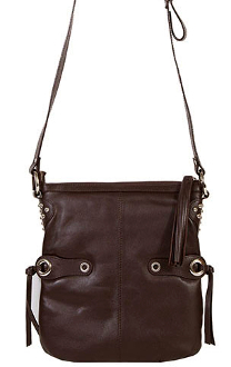 This Women's Scully Brown Lambskin Leather Cross Body Purse is made of soft lambskin leather with a western tassel accent. The strap is fully adjustable for a should or cross body handbag.