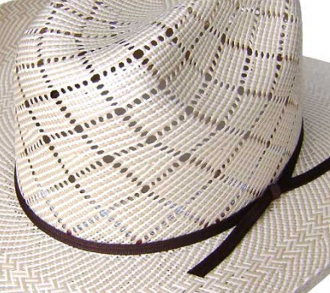 The 500X Two-Tone Silverton Taupe Shantung Straw Cowboy Hat is a stunning show stopper cowboy or cowgirl hat for any western rodeo or cowboy wedding look. high quality 500x shantung straw with vented crown.