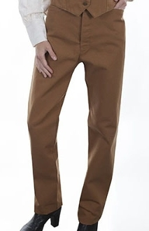 This Scully USA Womens Tan canvas Saddle seat riding pants are perfect for riding or an authentic 1800's shooting and fits great with your steampunk clothing.