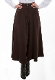 These lovely Scully Womens Brown Suede Split Skirt or riding pants are comfortable and fashionable western riding pants for women in a machine washable sueded poly fabric with front pockets great for cowgirls.