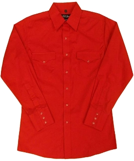 This Mens Pearl Snap Red Western Shirt has the modern western pockets matching pearl snaps a favorite for all cowboys and western lovers that comes in the larger sizes 3X 4X and even 5XL that are hard to find.