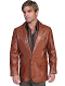 This Antique Brown Mens Scully Lambskin Leather Western Blazer comes in long and extra long sizes for mens big n tall cowboys