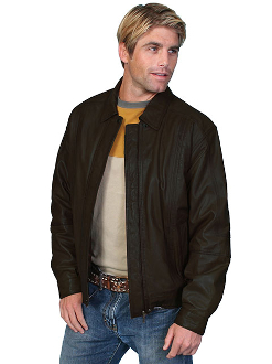 This Mens Scully black Soft Lambskin Jacket is avail in Big n Tall made of lambskin leather for the working cowboy who loves a quality western coat feels warm in a Zip front with snaps at collar and waist