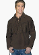 This Mens Scully Chocolate suede western fringe Daniel Bone shirt features full leather fringe just like Daniel Boone a total vintage old frontier cowboy look or davey crocket shirt