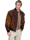 This Mens Scully Two Tone Cafe Brown Suede Zip Front Rodeo Jacket is a favorite cowboy western jacket for any occasion with a warm inner lining and that popular southwestern design with zip front an outer pockets.