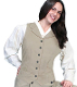 Womensn Scully USA Made tan Victorian vest, scully western vest, scully vest, 1800's womens vest, womens 1800's western vest, 1800's vest for women