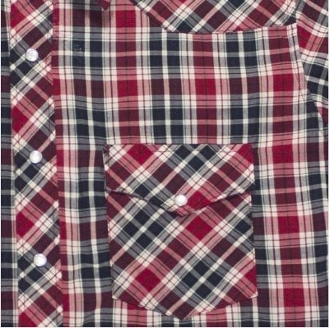 This Mens Red and Black Plaid pearl snap Short Sleeve Western Shirt is a great all around western pearl snap shirt for men with a cowboy look and western yokes available in mens sizes medium up to big and tall 3x and 4X