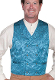 This Scully Mens USA Made Aqua Blue Paisley Double Breasted Silk Vest is 100% silk vest for men that is perfect for a steampunk wedding or event with classic notched lapels, 2 front pockets and stamped metal buttons