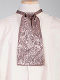 The Scully Rangewear Taupe Silk puff tie neck tie scarf is a classic old frontier or old west look to it made with quality material with matching vests available.