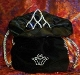 This Cowgirl hat Tiara bag in black is great for rhinestone hat tiaras and your rodeo crowns for the county fair or any rodeo queen horse show. This hat Tiara bag will keep your rodeo crown tiara also a great winners gift.