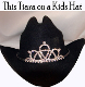 """Little Miss Daisy"" Rhinestone Cowboy hat tiara is proudly made in the USA for the Little queen of the rodeo to be crowned by this cowboy hat tiara is an exciting look an any cowgirl competing to be the horse show winner."