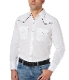 This Mens Ely Pearl Snap Black Piped White Western Shirt has western piped yokes and front pockets with retro pearl snaps available in womens for matching western shirts