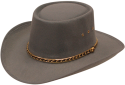 "This ""Little Joe"" Gray Felt Gambler Cowboy Hat is just like the one Little Joe wore on the TV show Bonanza! A stretch band inner fitting to make hat sizes easier for cowboys and cowgirls."