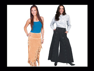 Womens Western Skirts Pants, Womens riding pants, womens old west pants, scully riding pants, black western riding pants, old west skirts, scully old west clothing, western skirts, western dress, western skirt for ladies