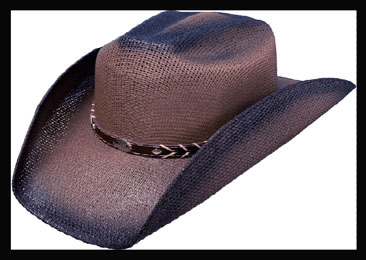 This Kids Brown Twisted Straw Cowboy Hat a perfect cowboy hat for kids with easy stretch band for fitting most kids cowboy hats in that hard to find brown straw with leatherette concho hat band