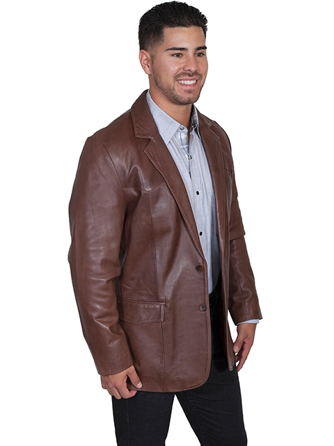 This Chocolate Brown lambskin Mens Scully Western blazer comes in long and extra long sizes for mens big n tall cowboys