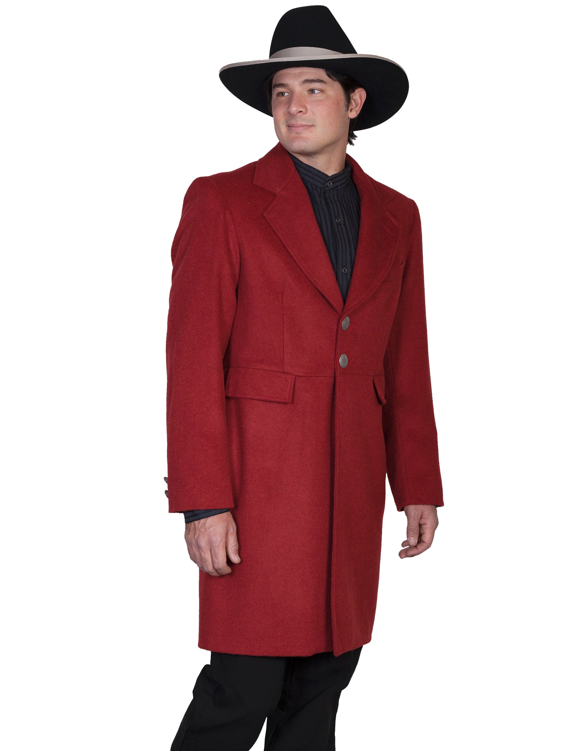 Mens Scully USA Made 3/4 Long Burgundy Wool Frock Coat