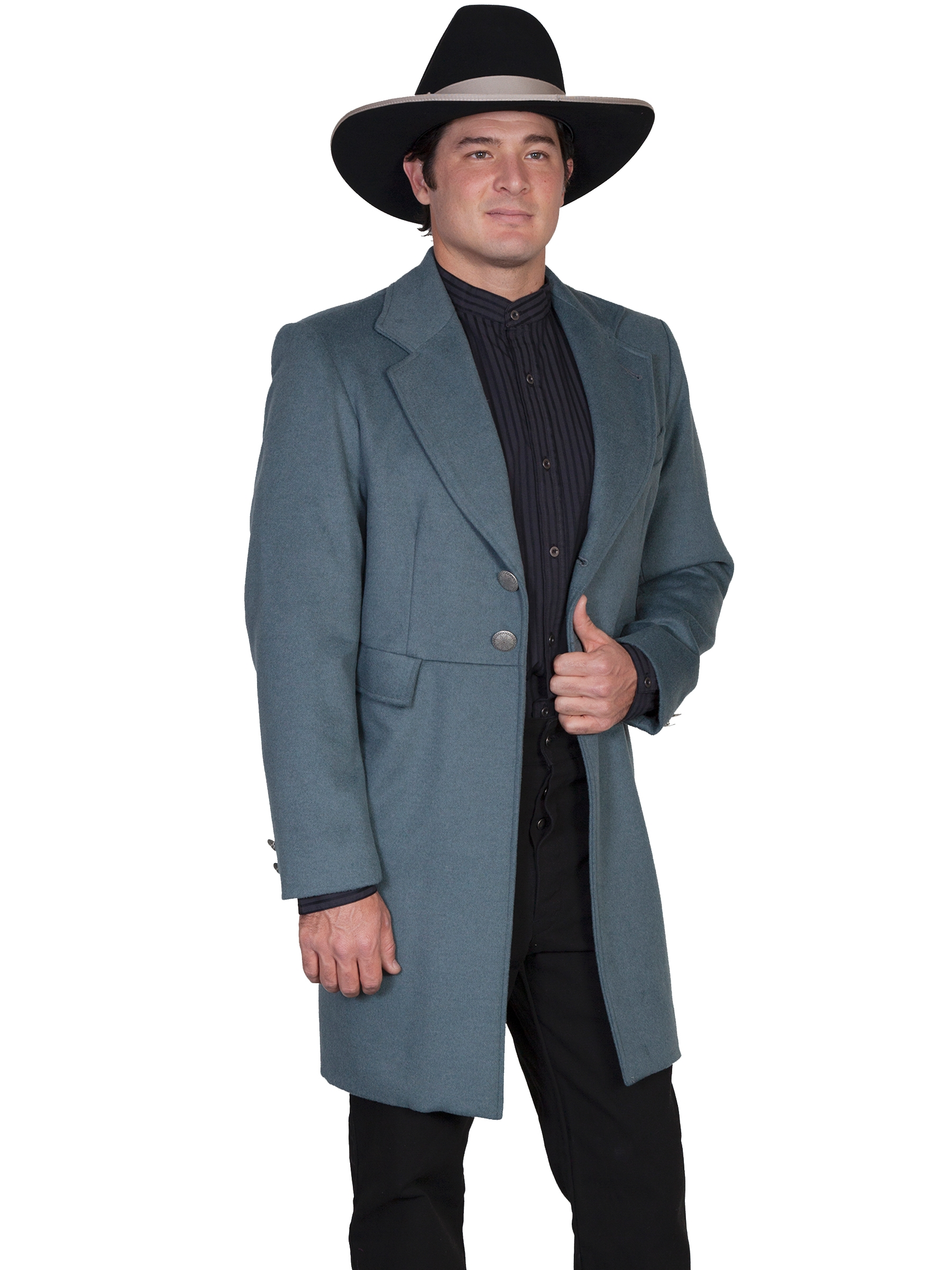 Mens Scully USA Made 3/4 Long Mossy Wool Frock Coat, mens western coats, western blazers for men, mens wedding western, mens wedding western apparel, mens wedding western attire, mens wedding western wear, mens wedding western jacket