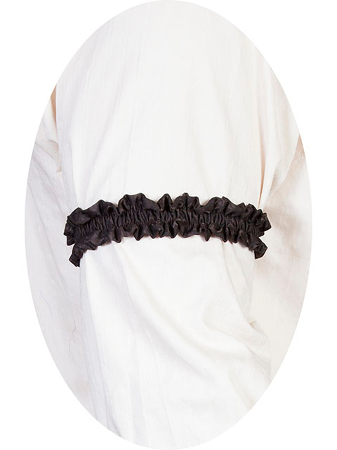 This Scully Wahmaker Brown Sleeve Garter is made in the USA a perfect gambler style wedding Armband for your shirt sleeve that matches the 19th century old frontier paisley mens vests