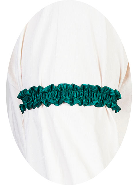 This Scully Wahmaker green Sleeve Garter is made in the USA a perfect gambler style wedding Armband for your shirt sleeve that matches the 19th century old frontier paisley mens vests