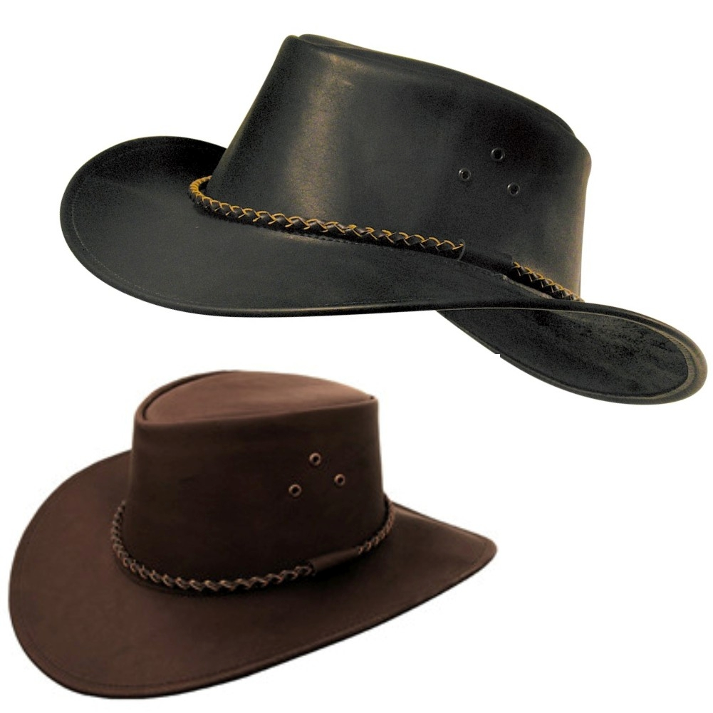 Packer Black Or Brown Leather Cowboy Hat By Kakadu dbd857cddeaa