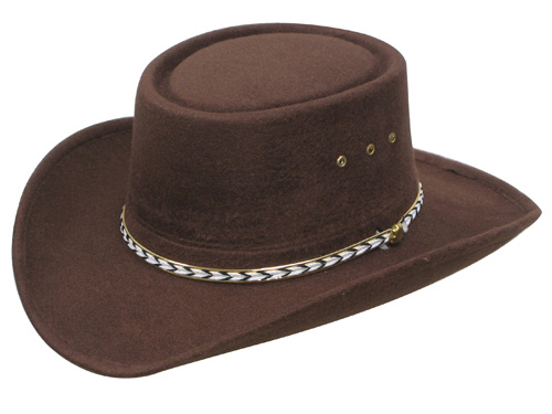 "The ""Little Joe"" faux felt Brown Gambler cowboy hat is the same style worn by little joe on bonanza tv show. This western hat is made of felt for a great look that wont brake your pocket book. A true cowboy favorite or cowgirl hat."