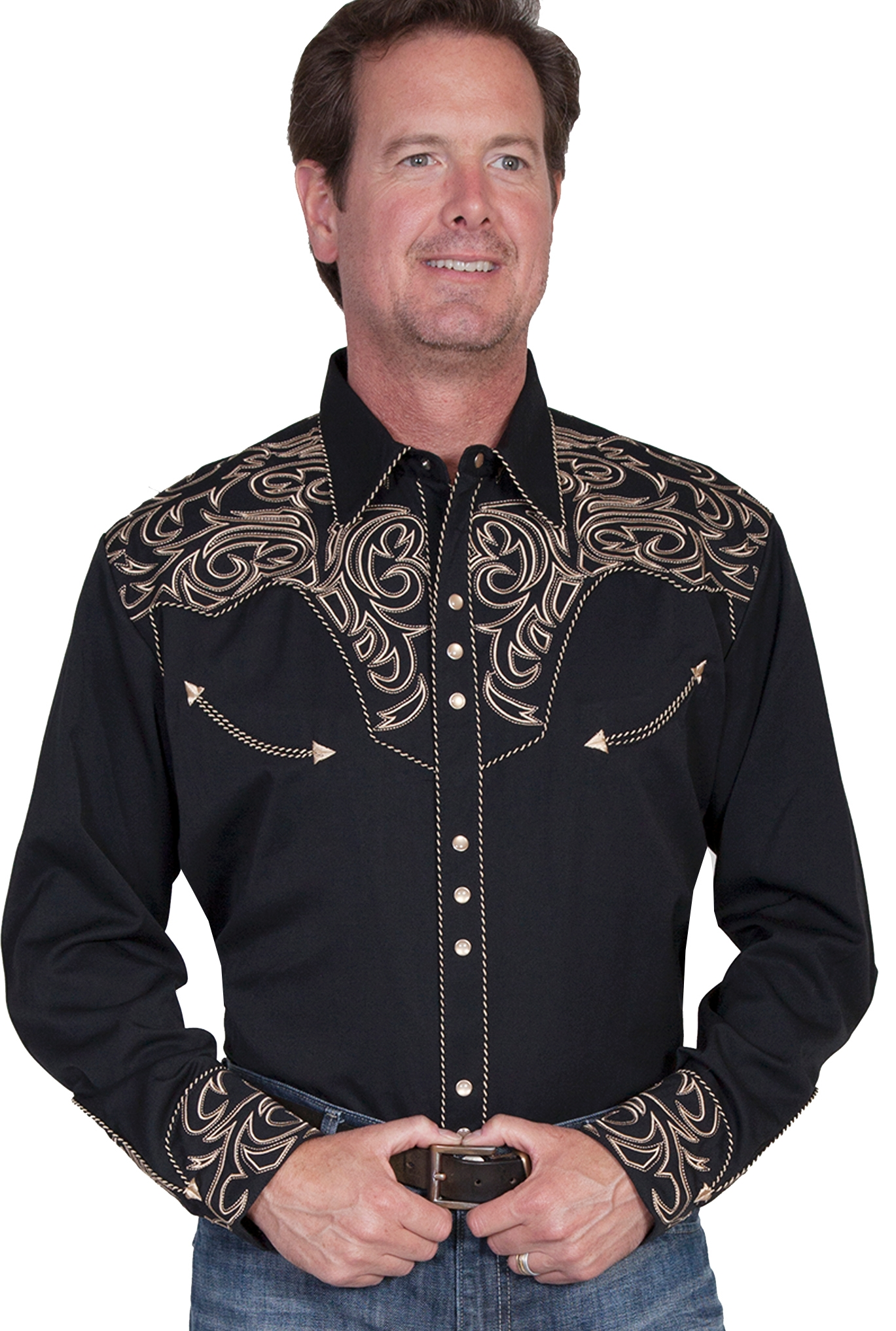 Mens Western Shirts. Western shirts for men are for all you rugged Americans! Our Cowgirl Stylists will be proud to help you rustle up some authentic Western style. You are not going to find a better range in cowboy shirts, from classic denim to modern plaids – anywhere. We know we've looked!