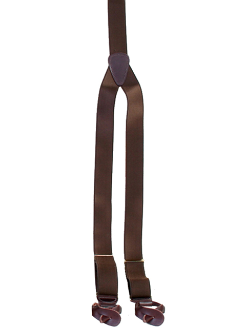 french brown satin suspenders