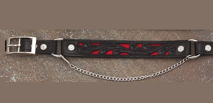 This pair of Black & Red Inlay Leather Cowboy boot chains are hand made with a gorgeous leather inlay that matches the hat band. cowboy western boot chains or boot bracelets