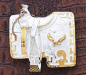 German silver and Gold Western horse saddle belt buckle