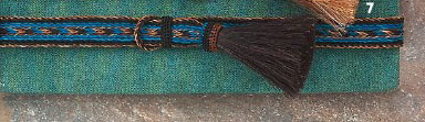 "The 1"" Tri Color Blue Horse Hair Side Tassel Hat Band is hand made With genuine horse hair that is hand weaved with a thick horse hair tassel adding detail to any cowboy or cowgirl hat."